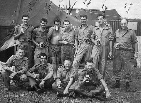 WOs and  Sgts outside mess - 1Dec68