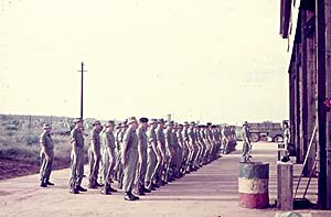 Parade for handover from 1 Armd Sqn Wksp and takeover on raising of 106 Fd Wksp - 1 Nov 68