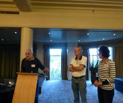 Meet and Greet - The Pres thanks the local organisers Pat & Rosemary Downey